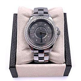 Chanel J12 H2565 Diamond Dial Diamond Bezel Bezel Titanium Ceramic Box Papers