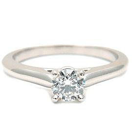 Auth Cartier Solitaire 1895 Diamond Ring 0.31ct Platinum #50 US5-5.5 Used F/S