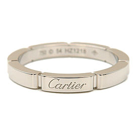 Authentic Cartier maillon panthère Ring K18 White Gold #54 US7 EU54 Used F/S