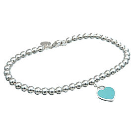 Authentic Tiffany&Co. Return To Tiffany Heart Tag Bracelet Silver 925 Used F/S