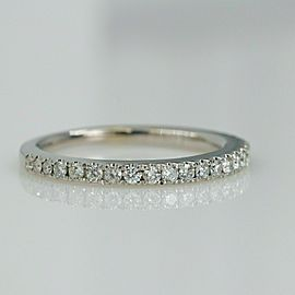 Vera Wang Love 1/4 tcw Diamond Wedding Band 14kt White Gold SZ 5.75