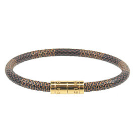 Authentic Louis Vuitton Damier Bracelet Keep It Bangle M6608E Used F/S