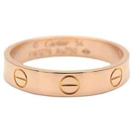 Authentic Cartier Mini Love Ring K18 750 Rose Gold #54 US7 HK15.5 EU54 Used F/S