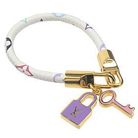 Authentic Louis Vuitton Monogram Multi Color Bracelet Luck It M6604F Used F/S