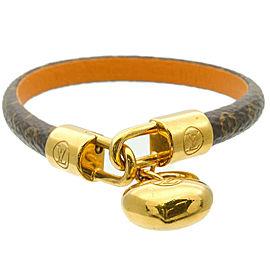 Authentic Louis Vuitton Monogram Bracelet Crazy In Lock M6451 Used F/S