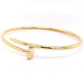 Cartier Juste Un Clou Small Bracelet 18 kt Yellow Gold SZ 17 Box Receipt