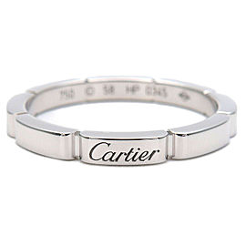 Authentic Cartier maillon Panthère Ring K18 White Gold #58 US8.5 EU58 Used F/S