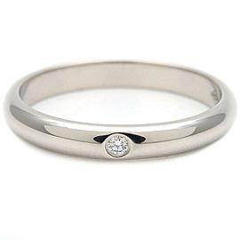 Authentic Cartier Wedding Ring 1P Diamond Platinum #47 US4-4.5 HK9 EU47 Used F/S