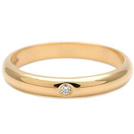 Authentic Cartier Wedding Ring 1P Diamond Yellow Gold #47 US4 EU47 Used F/S