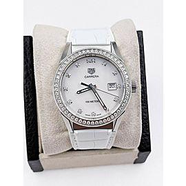 Tag Heuer WBG1315.FC6412 Ladies Carrera MOP 36mm Diamonds
