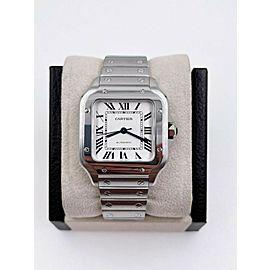 Cartier Santos Ref 4075 WSSA0029 Medium Stainless Steel with Box