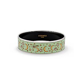 Hermes Enamel Stainless Steel Celestial Bangle Length: 7.7 inches