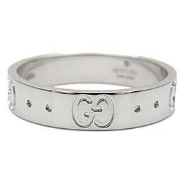 Authentic GUCCI ICON Ring K18 WG 750 White Gold #10 US5.5 HK11.5 EU50