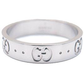 Authentic GUCCI ICON Ring 750WG K18 White Gold #11 US5.5 HK12 EU51