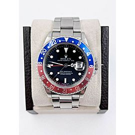 Rolex GMT Master II 16710 Pepsi Red and Blue Stainless Steel UNPOLISHED
