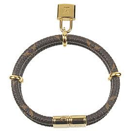Authentic Louis Vuitton Monogram Bracelet Keep it Twice Bangle M6640 Used F/S