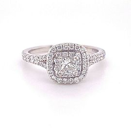Neil Lane Double Halo Princess Diamond 1 tcw Engagement Ring 14kt White Gold