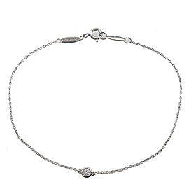 Authentic Tiffany&Co. By the Yard 1P Diamond Bracelet 0.05ct Silver 925 Used F/S