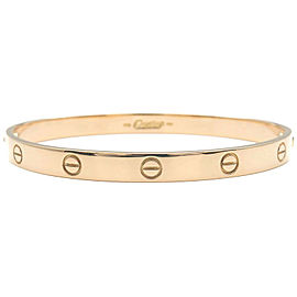 Authentic Cartier Love Bracelet Bangle K18 750YG Size #20 Yellow Gold Used F/S