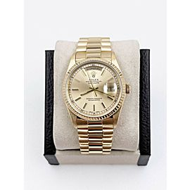 Rolex 18238 President Day Date Champagne 18K Yellow Gold