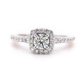 VERA WANG Love WISH 7/8 tcw Round Brilliant Diamond Halo Engagement Ring