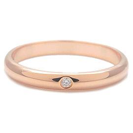 Authentic Cartier Wedding Ring 1P Diamond Rose Gold #52 US6 HK13 EU52 Used F/S