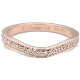 Authentic Cartier Ballerine Diamond Ring K18PG Rose Gold #48 US4.5 EU48 Used F/S