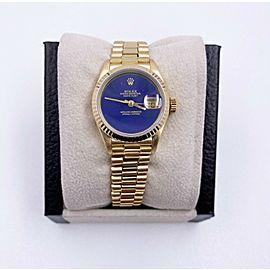 Rolex Ladies President 69178 Lapis Lazuli Dial 18K Yellow Gold