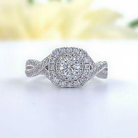 Neil Lane Round Diamond Engagement Ring Twisted Band