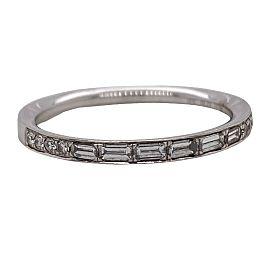 SIMON G. #MR2219-BAND Round and Baguette Diamond Engagement Ring 18k WG