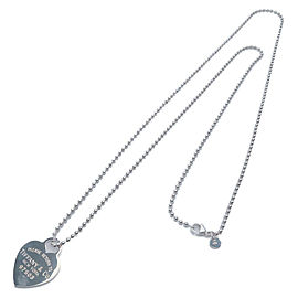 Authentic Tiffany&Co. Return to Tiffany Heart Tag Necklace SV925 Silver Used F/S