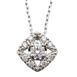 Authentic VENDOME AOYAMA Diamond Necklace Pendant PT950 PT850 Platinum Used F/S
