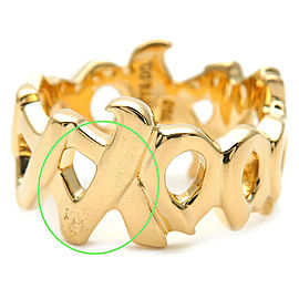Authentic Tiffany&Co. Paloma Picasso Ring Yellow Gold US4.5 HK9.5 EU48 Used F/S