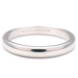 Authentic Tiffany&Co. Classic Band Ring Platinum US7.5-8 HK17 EU56.5 Used F/S