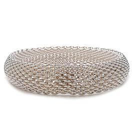 Authentic Tiffany&Co. Somerset Mesh Bangle Bracelet SV925 Silver Used F/S