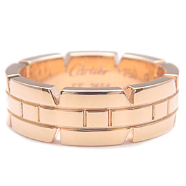 Authentic Cartier Tank Francaise Ring Rose Gold K18 #50 US5.5 EU51 Used F/S