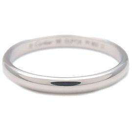 Authentic Cartier Wedding Ring PT950 Platinum #56 US7.5-8 HK17 EU56 Used F/S