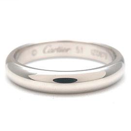 Authentic Cartier Wedding Ring PT950 Platinum #51 US5.5-6 HK12.5 EU51 Used F/S
