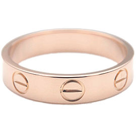 Authentic Cartier Mini Love Ring K18PG 750PG Rose Gold #48 US4.5 EU48 Used F/S