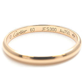 Authentic Cartier Wedding Ring K18 Yellow Gold #60 US9-9.5 HK20.5 EU60 Used F/S