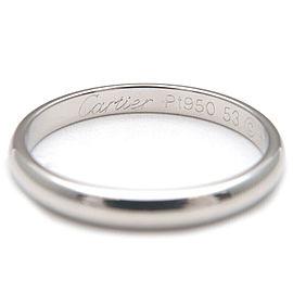 Authentic Cartier Wedding Ring PT950 Platinum #53 US6.5 HK14 EU53 Used F/S
