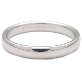 Authentic Tiffany&Co. Classic Band Ring 950 Platinum US6.5-7 HK15 EU54 Used F/S