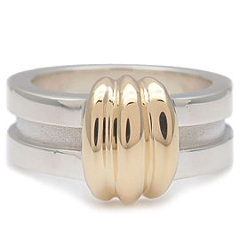 Authentic Tiffany & Co. Grooved Ring SV925 750YG US4.5-5 HK10 EU48.5 Used F/S