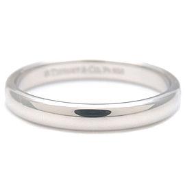 Authentic Tiffany&Co. Classic Band Ring PT950 Platinum US8 HK17.5 EU57 Used F/S