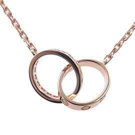 Authentic Cartier Baby Love Diamond Necklace K18PG 750PG Rose Gold Used F/S
