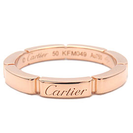 Authentic Cartier maillon Panthère Ring K18 Rose Gold #50 US5.5 EU50.5 Used F/S