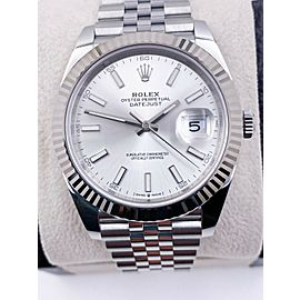 BRAND NEW Rolex Datejust 41 Silver Dial 126334 Stainless Steel