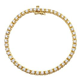 Ladies 3.50 tcw Round Brilliant Cut Diamonds Tennis Bracelet in 14kt Yellow Gold
