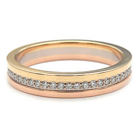 Auth Cartier Three Color Ring Full Eternity K18 YG/WG/PG #52 US6-6.5 Used F/S