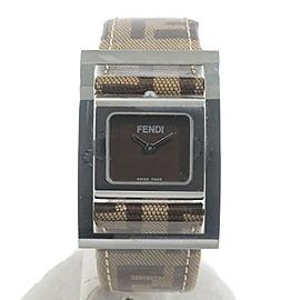 Authentic FENDI Square Gyro Ladies Wrist Watch Quartz 5000L Used F/S